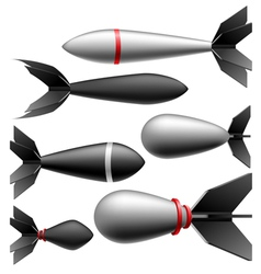 Rocket bomb set vector image vector image
