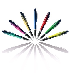 color pen vector image vector image