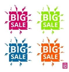 Label Big sale vector image