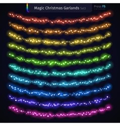 Magic Christmas Garlands Set3 vector image