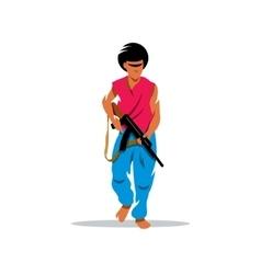 Man with gun Cartoon vector image