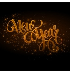 New Year made a sparkler vector image