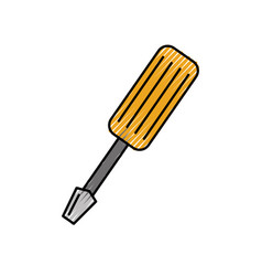 screwdriver tool isolated icon vector image vector image