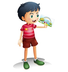A child holding an image vector image