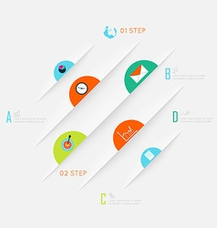 Abstract business info graphics template vector