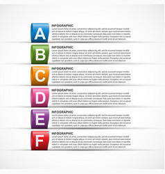 abstract infographics template for business vector image