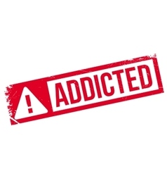 Addicted rubber stamp vector