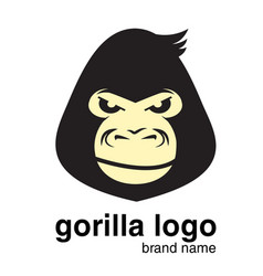 animal logo gorilla logo monkey vector image