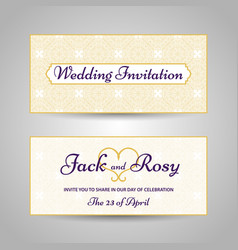 arabic style wedding invitation vector image