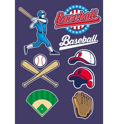 baseball set vector image