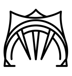 Big open tent icon outline style vector
