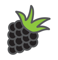 Blackberry line icon fruit and diet vector
