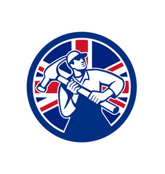 British joiner union jack flag icon vector