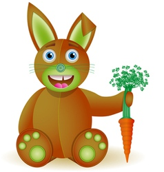 Bunny toy with carrot vector image vector image