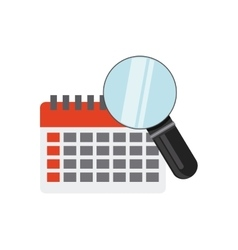 calendar with business icon vector image