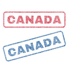 Canada textile stamps vector