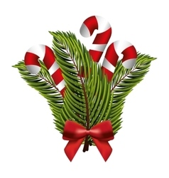 cane christmas isolated icon vector image