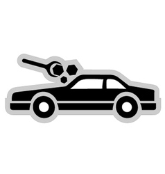 Car workshop symbol vector
