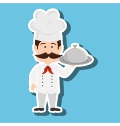 Chef character design vector