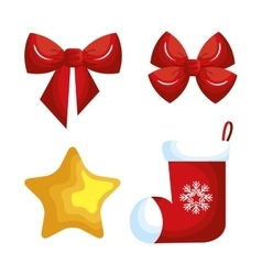 Christmas decoration set icons vector
