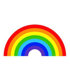 colorful rainbow template isolated on white backgr vector image