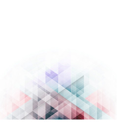colorful triangles design abstract background vector image