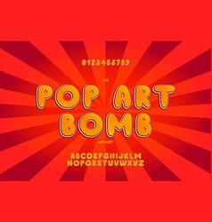 comic pop art alphabet template vector image