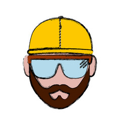 construction worker icon vector image