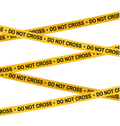 Crime scene yellow tape police line do not cross vector