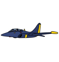 Dark blue jet aircraft vector