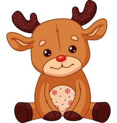 Deer toy plush vector