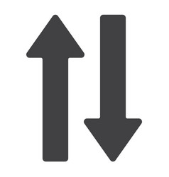 direction arrows glyph icon web and mobile vector image