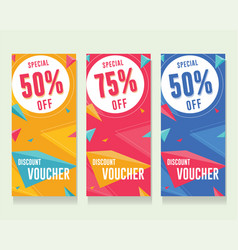 discount voucher template gift ticket banner vector image