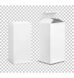 empty tall box cardboard cosmetic boxes vector image