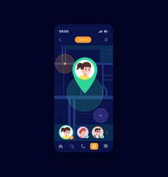 family navigator smartphone interface template vector image