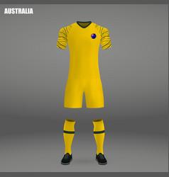 Football kit of australia 2018 vector