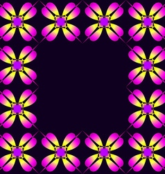 Frame of purple clover vector image