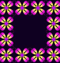 Frame of purple clover vector