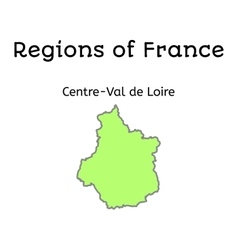 France administrative map of centre-val de loire vector