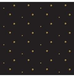 Gold foil glitter polkadot seamless pattern vector