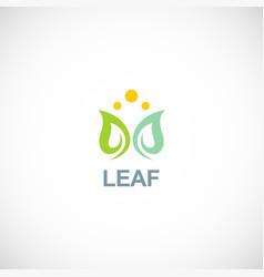 green leaf spa logo vector image