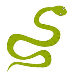 green snake icon isolated vector image