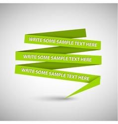 green speech bubble vector image