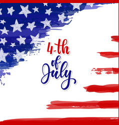 happy independence day card american independence vector image