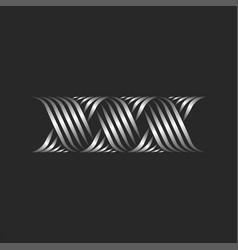 Initials letters xxx logo modern creative vector