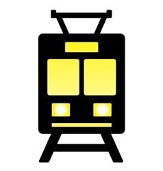 Isolated glossy train vector