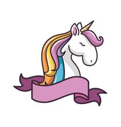 Isolated magic unicorn vector