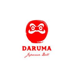 japanese daruma logo design vector image