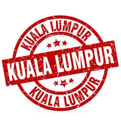 Kuala lumpur red round grunge stamp vector