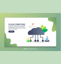 landing page template cloud computing modern vector image